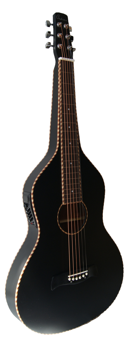 Black Weissenborn Style Bediaz with Rope Binding | 4-Band EQ