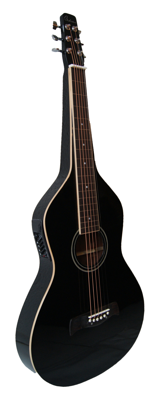Weissenborn Style Guitar with 4-Band EQ | Black Finish