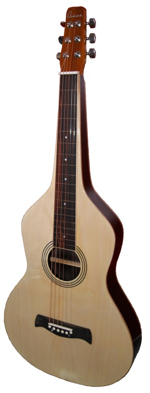 Spruce-Top Lap Steel Guitar in Weissenborn Style | Gloss Finish