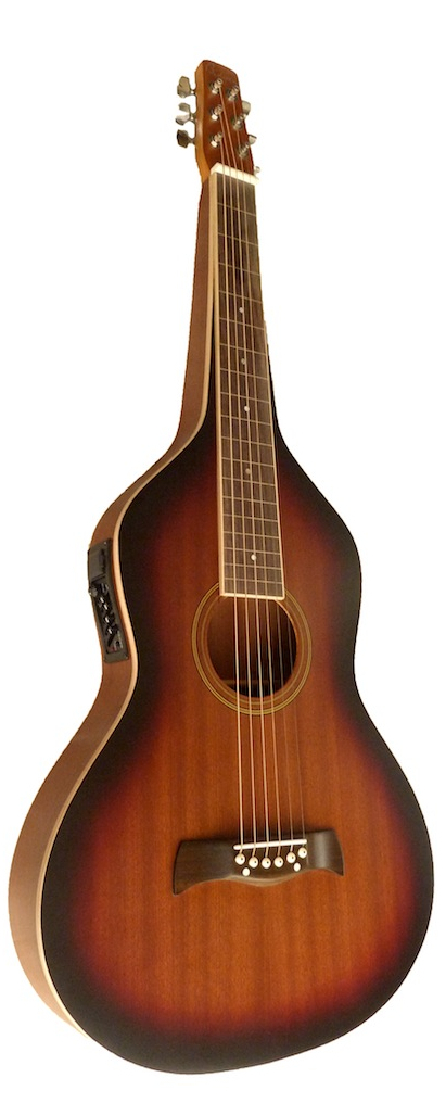 Weissenborn Style Guitar with 4-Band EQ | Tobacco